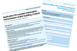 Building consent forms and guides