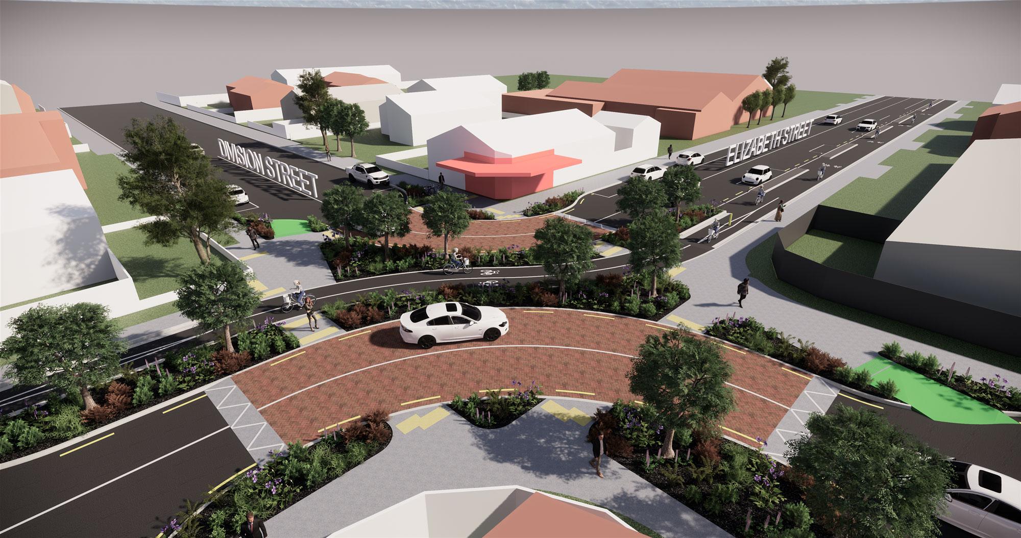 '3D render of Division Street 2