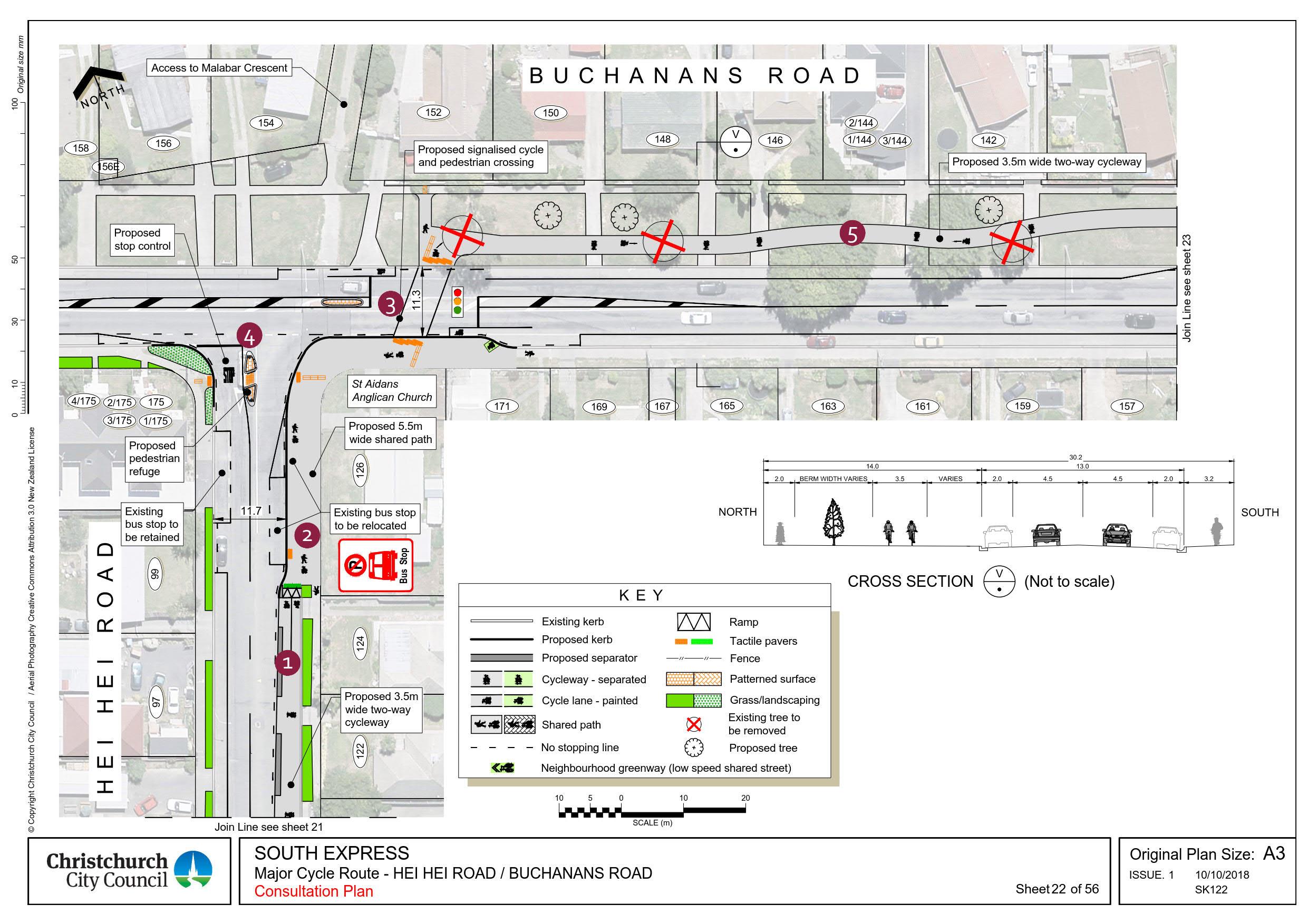 'Hei Hei Road and Buchanans Road