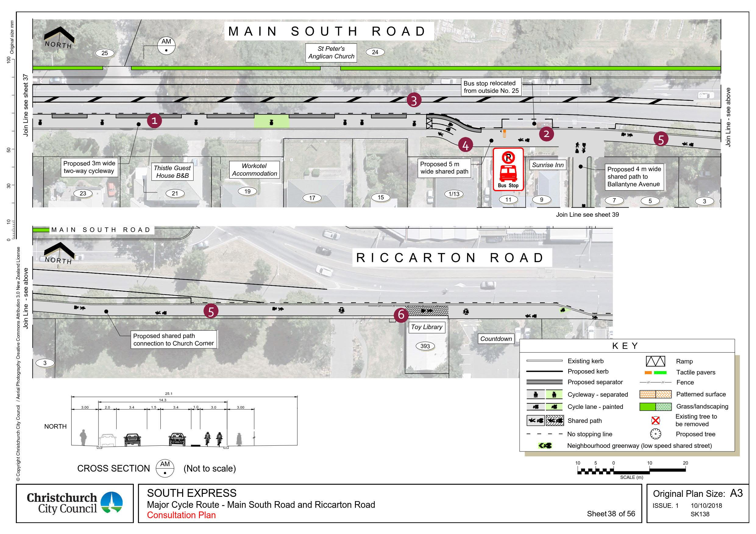 'Main South Road and Riccarton Road