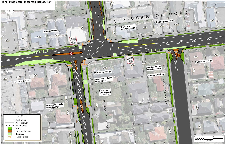 Ilam / Middleton / Riccarton intersection