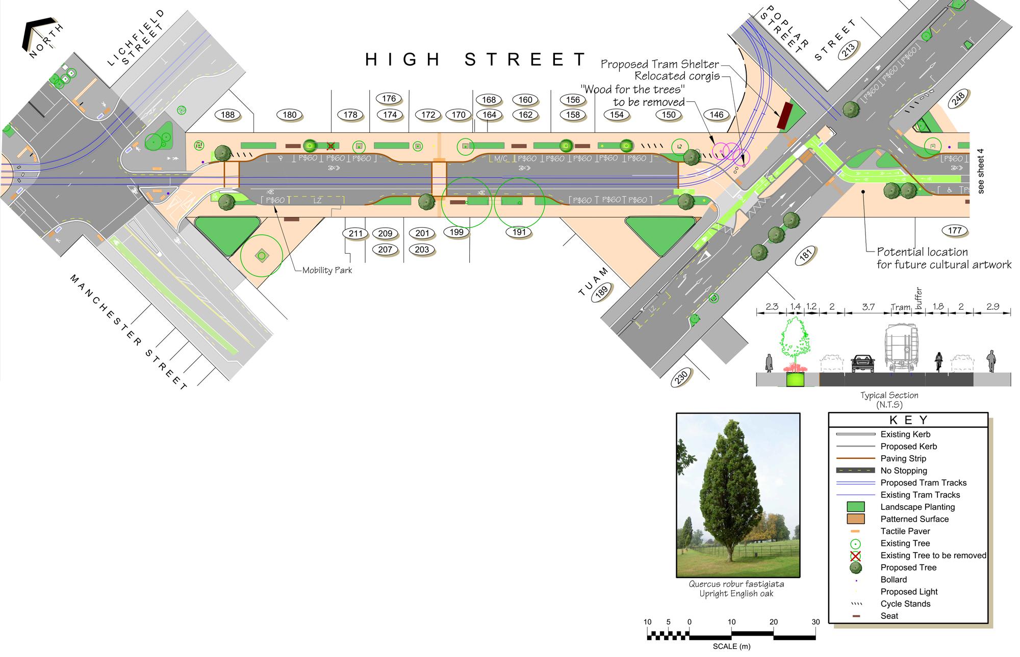 Mid block plan