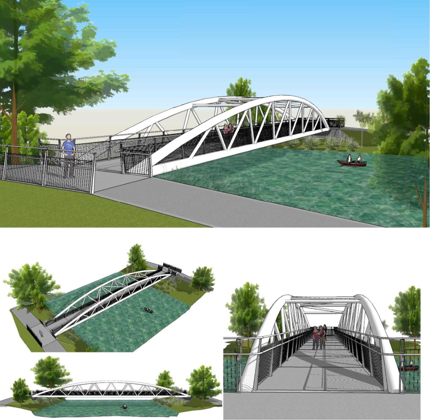 Artist impression of Medway Bridge