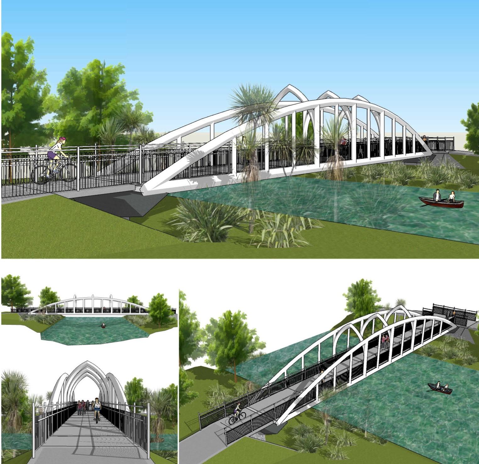 Artist impression of Snell bridge