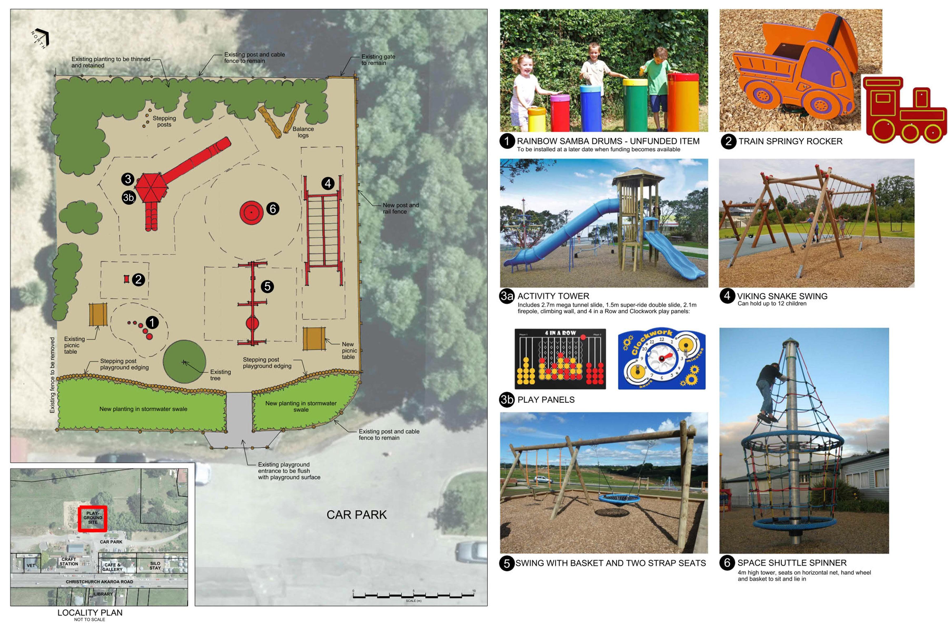Heritage Park Little River playground plan