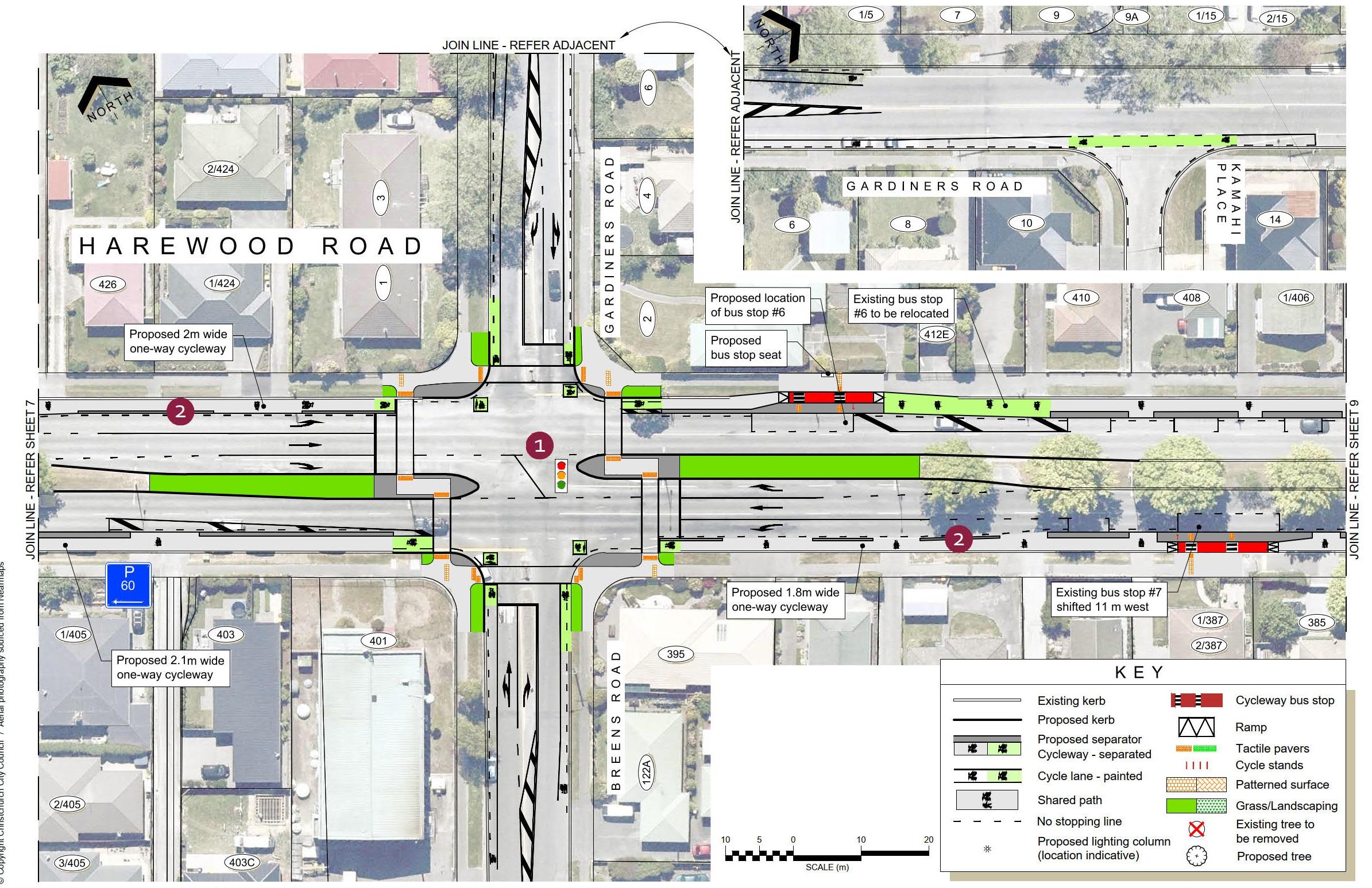 Plan 8 - Harewood Road, Gardiners Road, Breens Road intersec