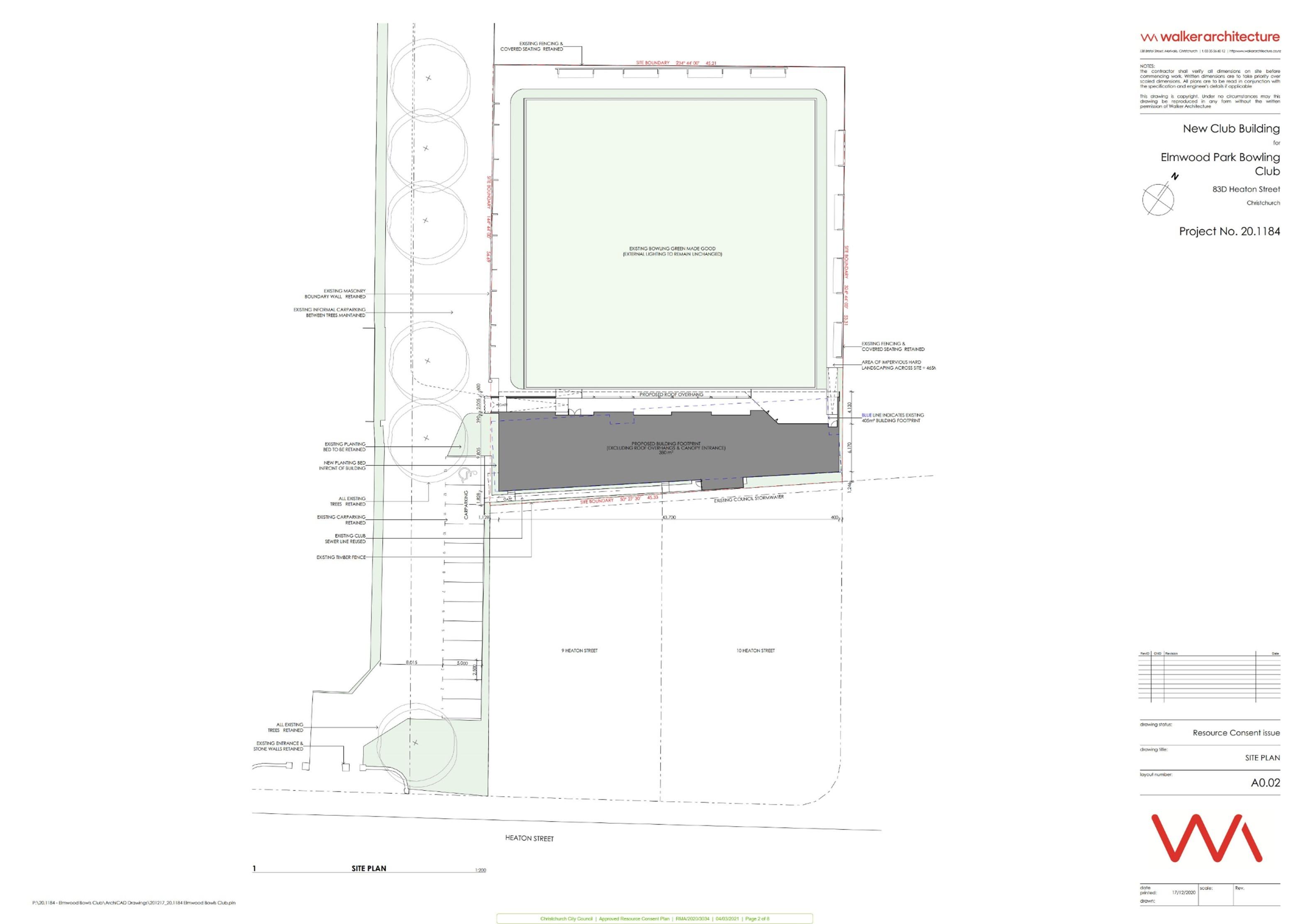 Elmwood Bowling Club plan 2 of 8