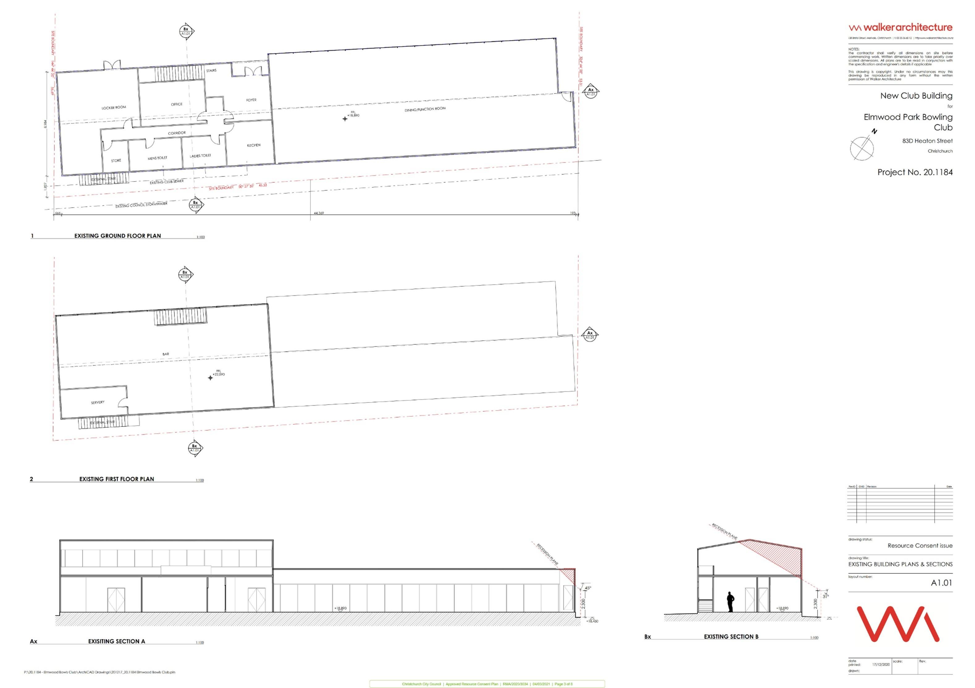 Elmwood Bowling Club plan 3 of 8