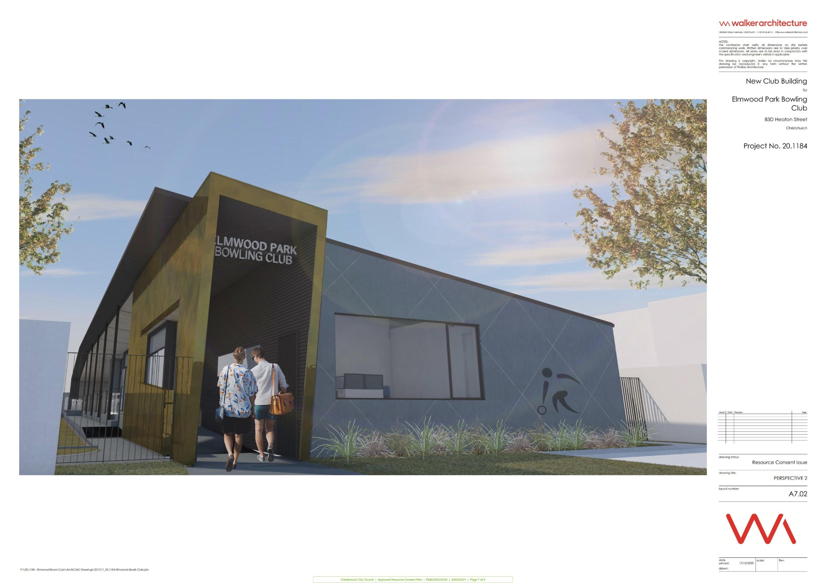 Elmwood Bowling Club plan 7 of 8