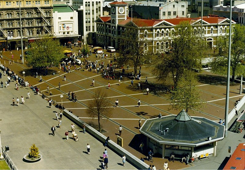 Cathedral Square in the early 1970s