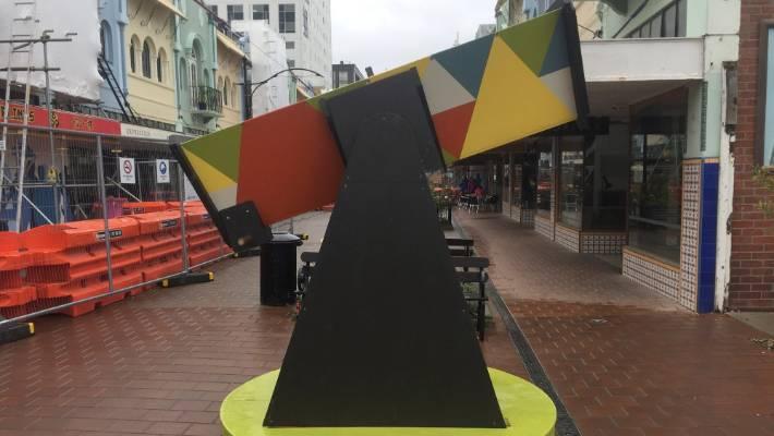 A large wooden kaleidoscope in New Regent Street