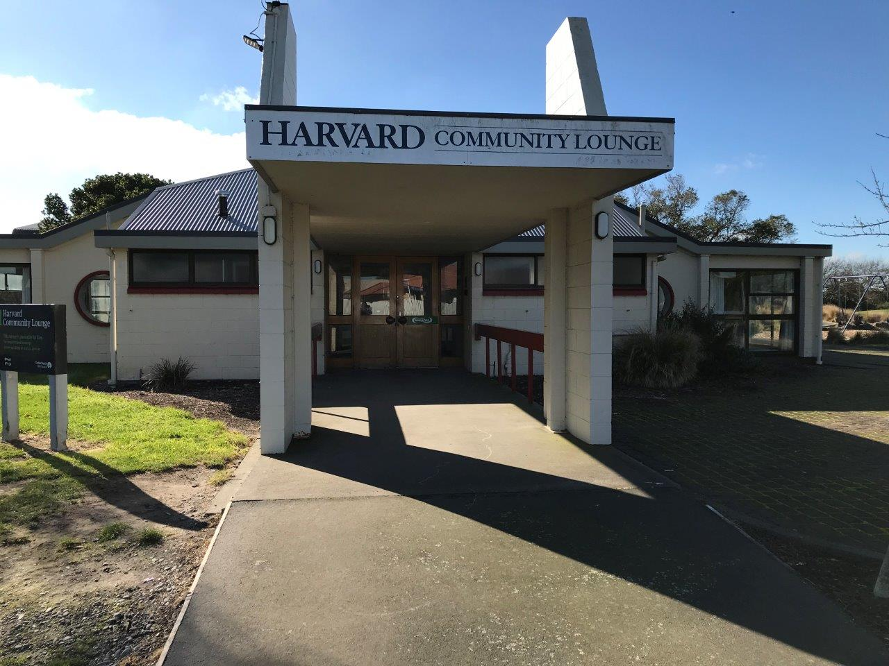 Harvard Community Lounge entrance