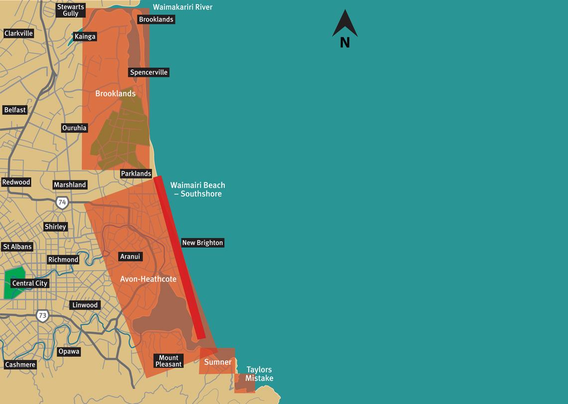 Open coast map