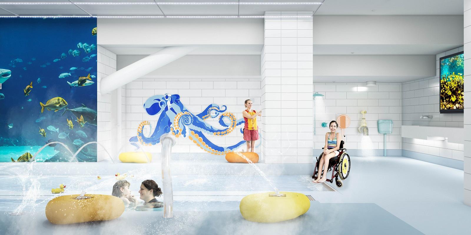 Metro Sports Facility Aquatic Sensory Experience