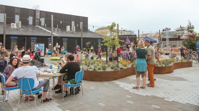 'Opening celebration at Evolution Square