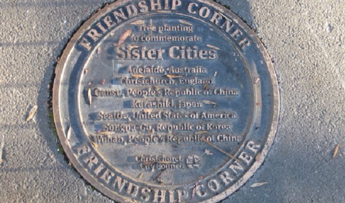 'Friendship Corner plaque