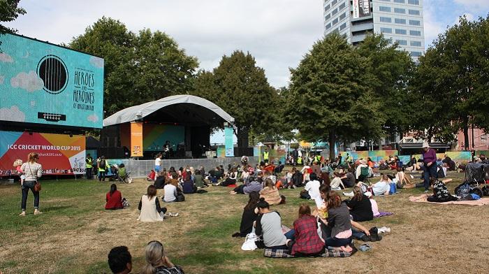 'ICC Cricket World Cup Fanzone in Victoria Square