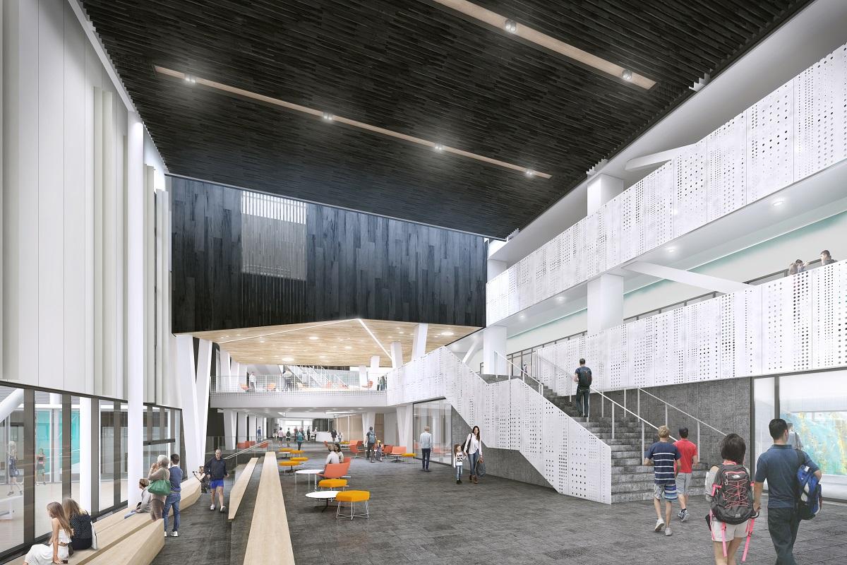 Metro Sports Facility central hub