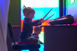 Toddler drumming