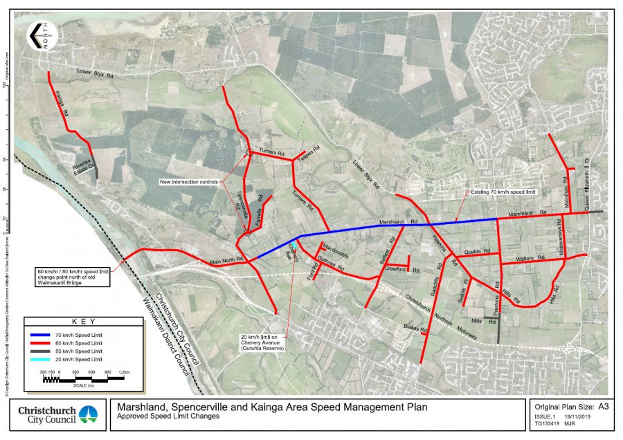 MArshland Spencerville and Kainga Area Speed Management Plan Approved Speed Limit Changes